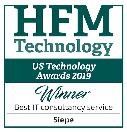 Siepe named Best IT Consultancy Service in 2019 HFM US Tech Awards