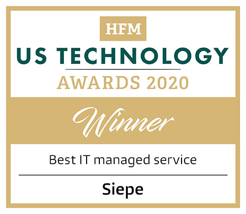 Siepe Wins Best IT Managed Service at HFM US Technology Awards