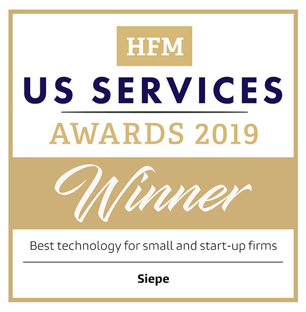 Siepe named Best Technology for Small and Start-up Firms at HFM US Services Awards 2019