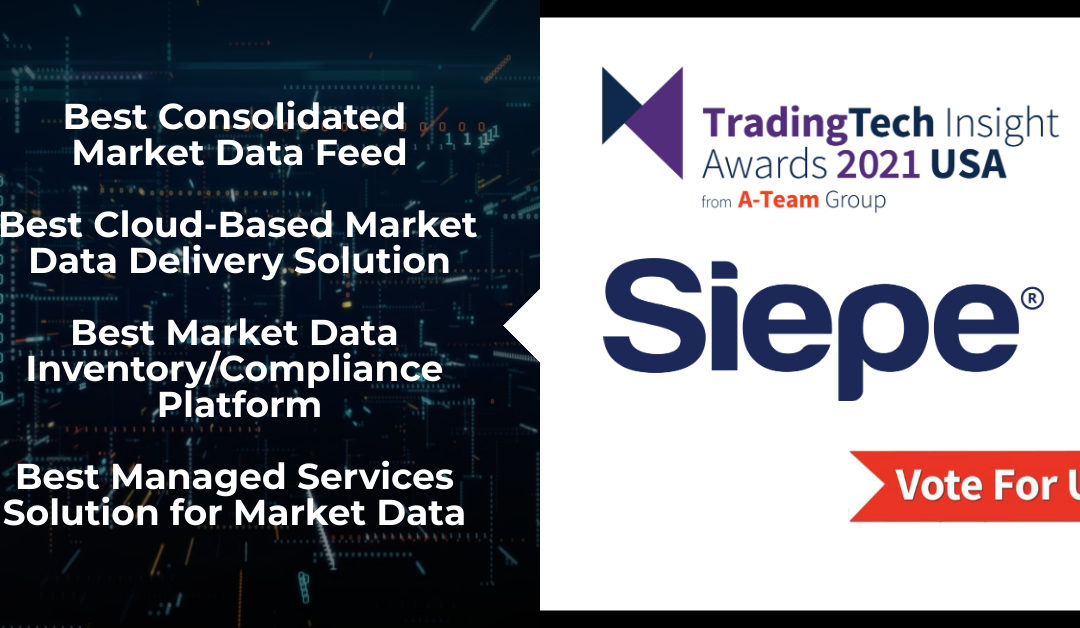 Siepe Shortlisted in Four Categories in the A-Team Group's TradingTech Insight USA 2021 Awards